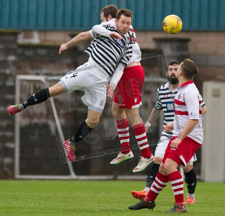 Queen's Park's Vinnie Berry wins the ball during the SPFL League Two game between Stirling Albion and Queen's Park.