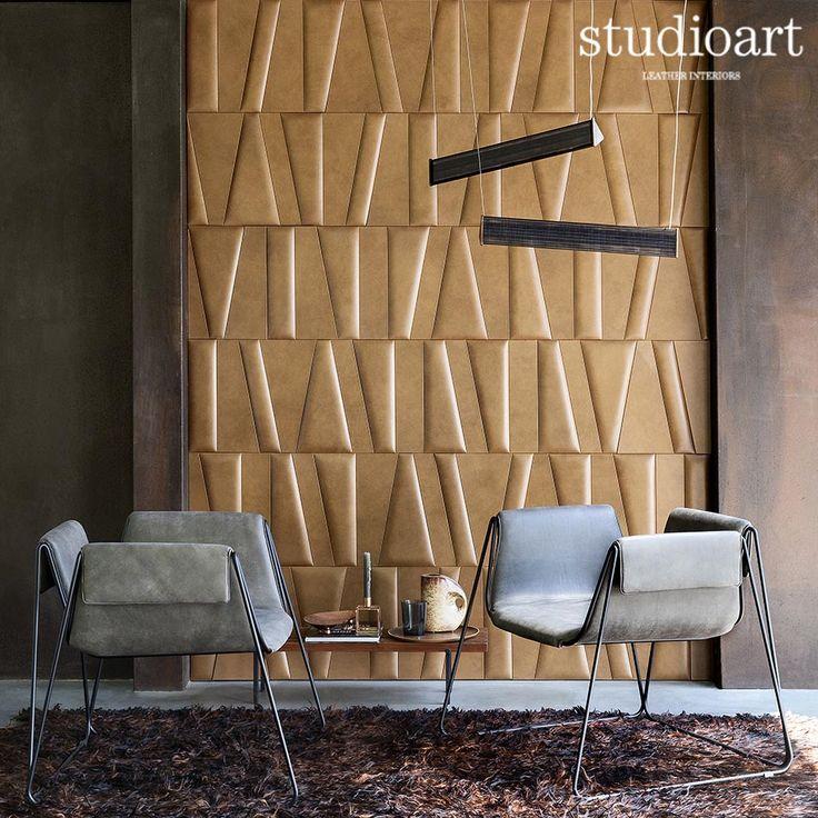 Frammenti Urban caramel #studioartleather #leather #leatherwall #design #homedecor #home #niche #rooms