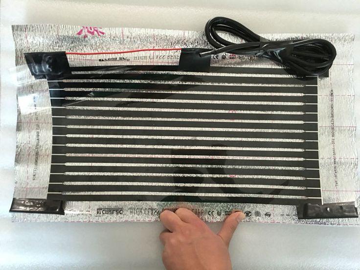 25 cm * 50 cm Infrarouge Lointain Électrique Chauffage Par Le Sol Films Échantillon Avec 1.5 M Câble 220VAC Pied Chaud Tapis