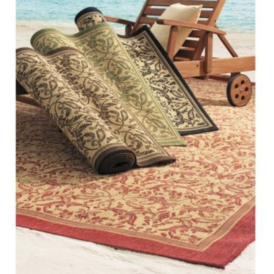 Seagrove all weather indoor outdoor rug redwing for All weather patio rugs