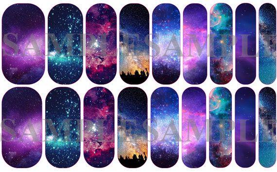 Envoltura de uñas galaxia