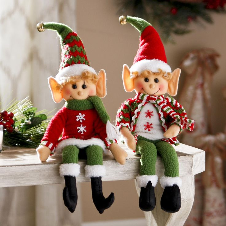 Add these little Tabletop Santa's Elves to the edge of your dinner table, mantle, bookshelf and more! They bring festivity and charm to your home for Christmas.