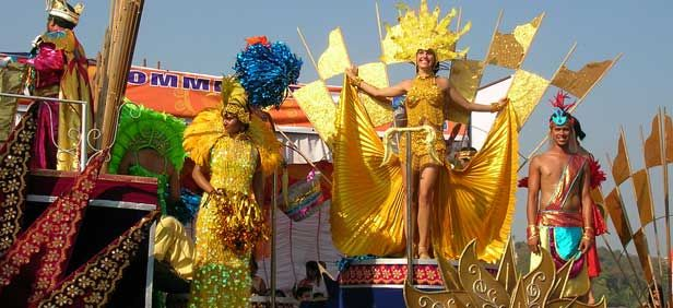 The Goa Carnival, true to form, is a time for unrestrained merrymaking with fashion, dancing, processions, music performed by both local and national level artists and unlimited food, with more than 70 stalls providing food and beverages, being part and parcel of the festivities.