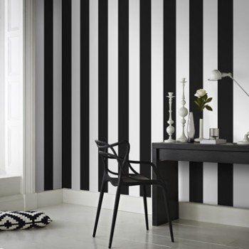 Papier peint intissé Rayures noir | Leroy Merlin                                                                                                                                                                                 Plus