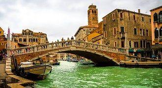 Canal Grande, Venice, Italy, Bridge