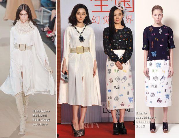 Fan Bingbing In Stéphane Rolland Couture & Huo Siyan In Stella McCartney - 'Double Xposure' Press Conference