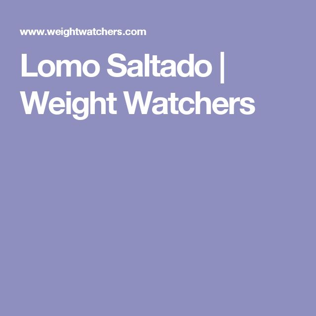 Lomo Saltado | Weight Watchers