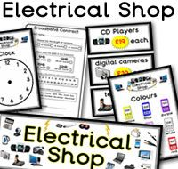 Lots of  great FREE Electrical Store Role Play Resources. Resources like Electrical Store opening times, clock, signs, prices, basket signs, worksheets, menu, Electrical Store Appliances, themed borders and much more. For more of these resources please check out our site. These Electrical Store printables are all free to download, plus  we have 1000s more educational printables available to download. We hope you enjoy our role play  resources.