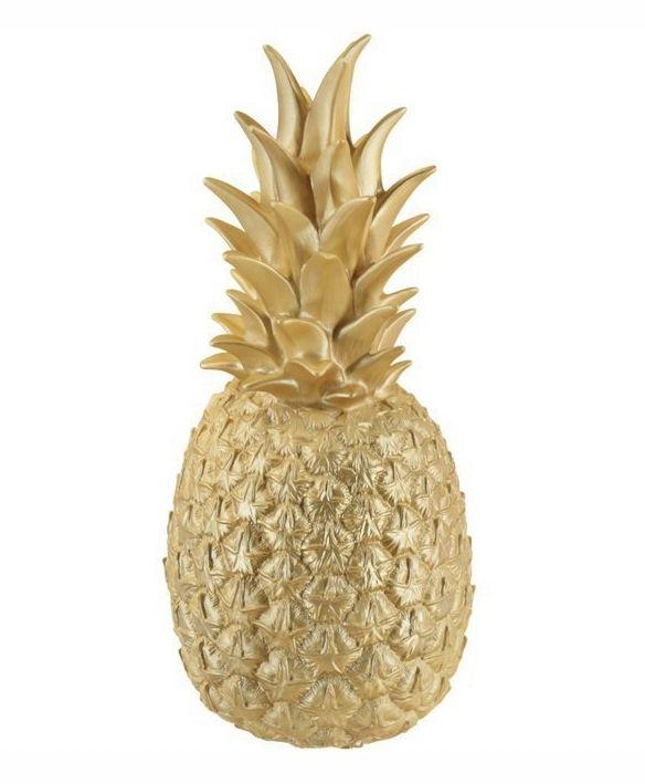 Ananas lamp gold