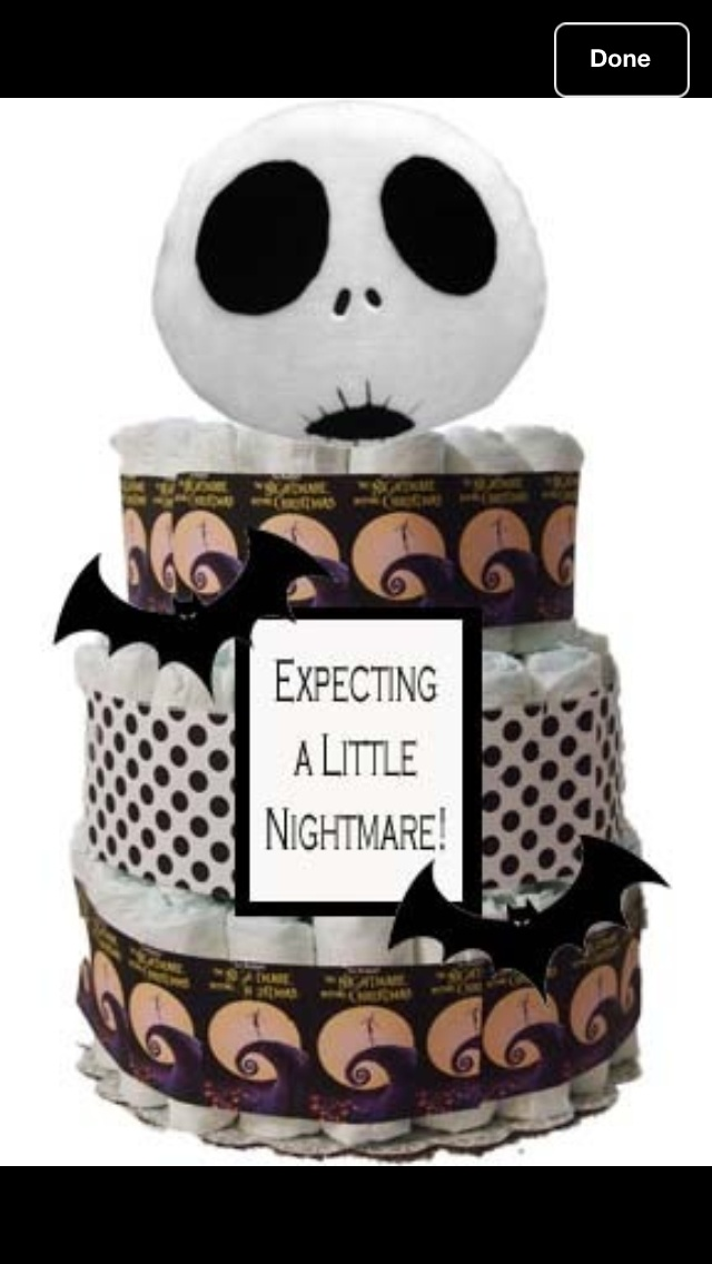 Nightmare Before Christmas Diaper Cake ! Iu0027m In Love :). Good Baby Shower  ...