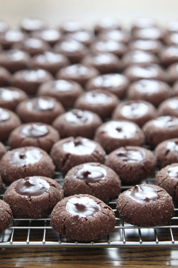 Indulge in These Salty-Sweet Chocolate Ganache Thumbprint Cookies