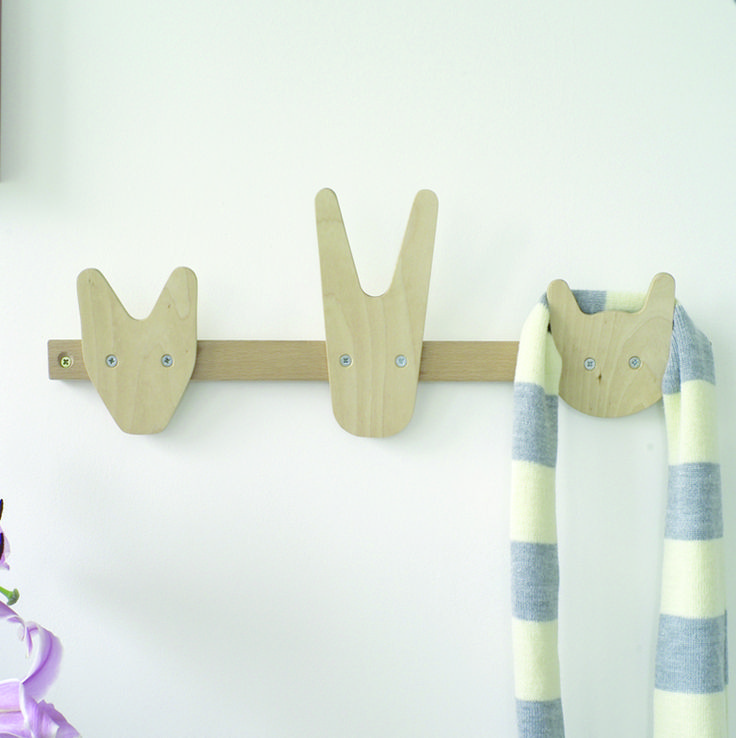 The Animals of Whittling Wood Coat Hooks - Sweet and stylish, this coat  rack is perfect for the young and the young at heart. Maybe it will even  encourage ...