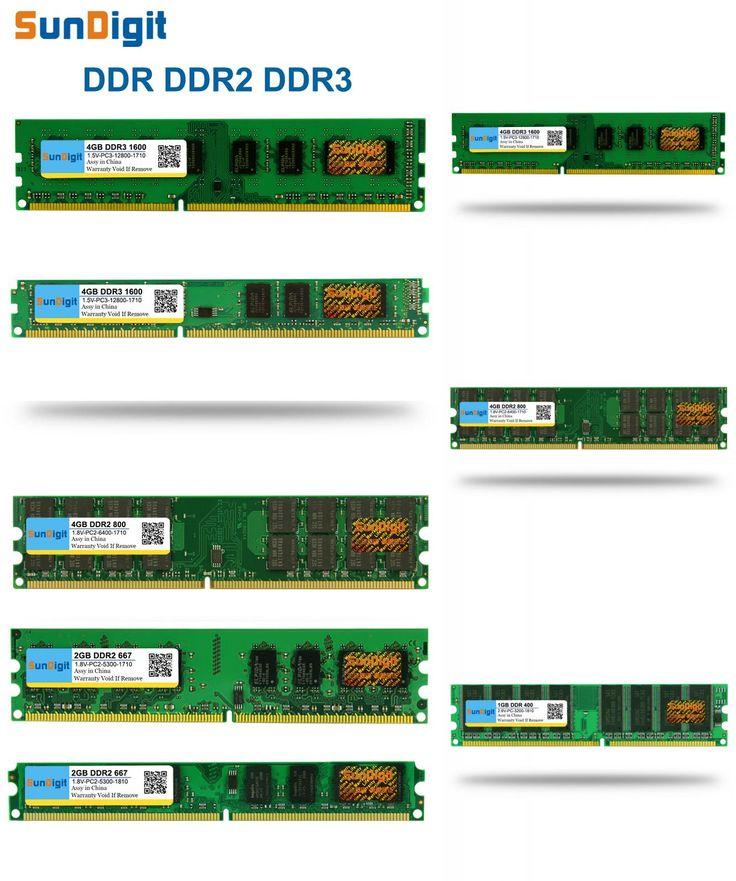 [Visit to Buy] SunDigit DDR 1 2 3 DDR1 DDR2 DDR3 / PC1 PC2 PC3 512MB 1GB 2GB 4GB 8GB 16GB Computer Desktop PC RAM Memory 1600MHz 800MHz 400MHz #Advertisement