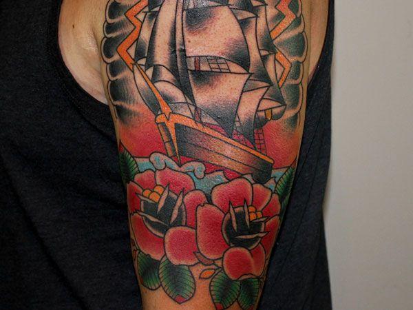 Amazing Rose Flower Tattoo Design For Men - http://tattooideastrend.com/amazing-rose-flower-tattoo-design-for-men/ -