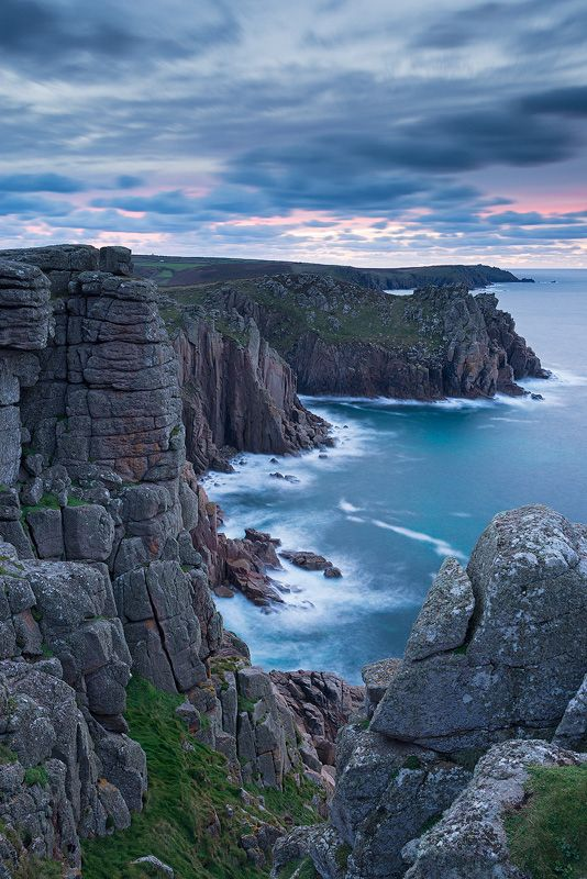 The Edge of England by Adam Burton, via 500px; Pordenack Point at Land's End, Cornwall, England