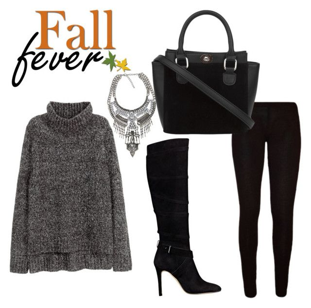 """Fall look"" by aichahh on Polyvore featuring H&M and GUESS"