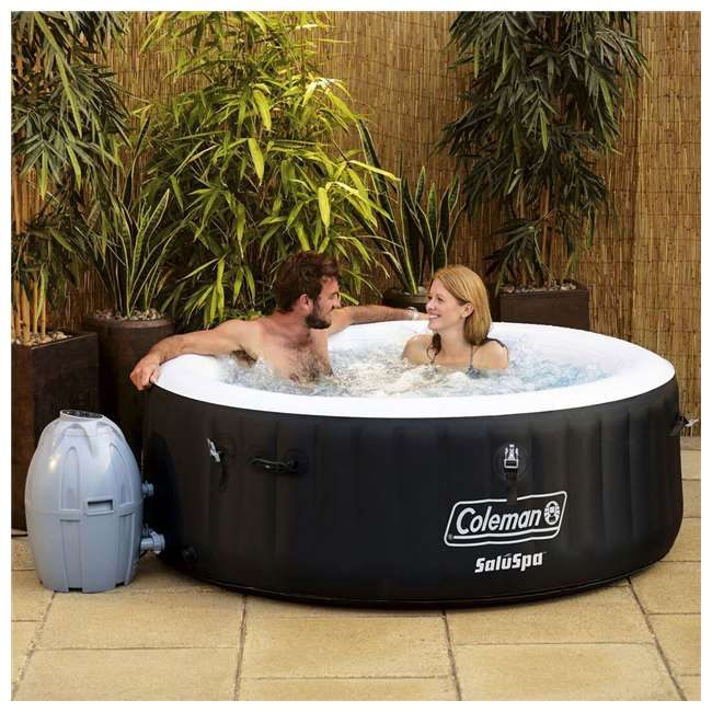 Coleman Miami Spa 4 Person Portable Inflatable Outdoor Air Jet Hot Tub Black Outdoor Spas Hot Tubs Inflatable Hot Tubs Best Inflatable Hot Tub