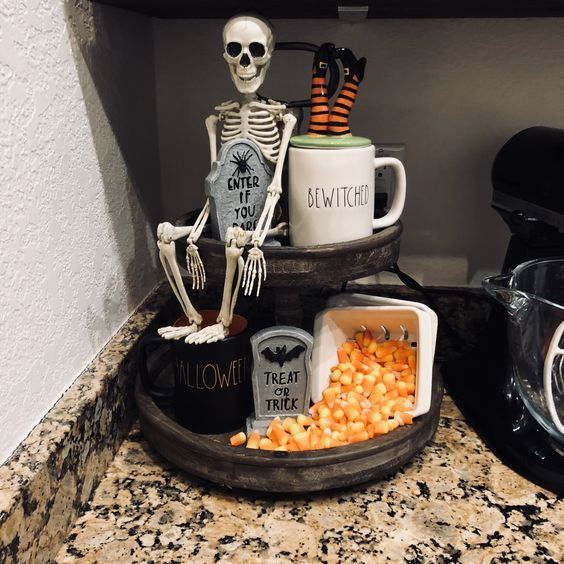 55+ Ways To Decorate Your Tiered Tray for Halloween