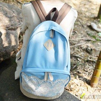 Fresh Simple Cute Lace Canvas Backpacks Fashion Backpacks - Fashion Bags ByGoods.com