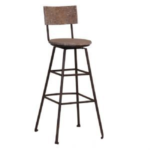 Canteen Aged Industrial Wooden Bar Stool