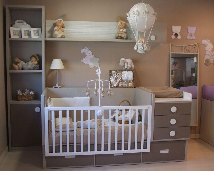 Cuna convertible para dormitorio infantil cunas y habitaciones infantiles pinterest - Vinilos para habitaciones de bebes ...