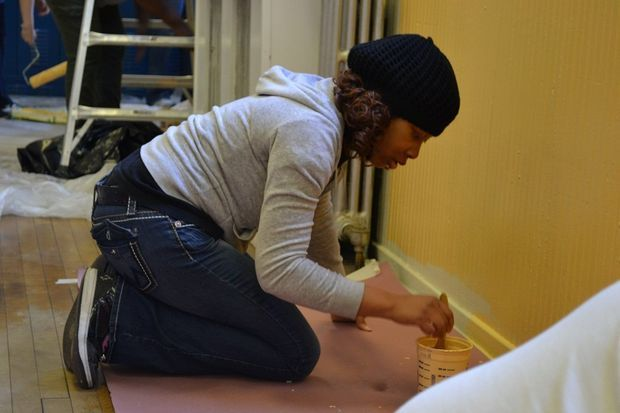 Volunteers from Rebuilding Together Jersey City spruce up daycare center and 14 other locations