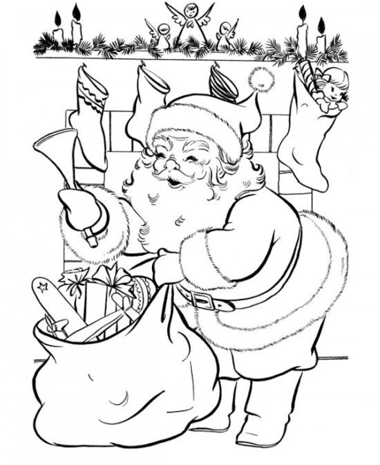 Christmas Santa Claus Coloring Pages Picture 15 550x672 picture