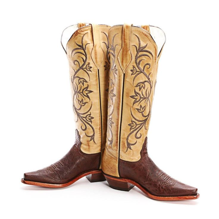 BootDaddy Collection with Tony Lama Brown Smooth Ostrich Cowgirl Boots