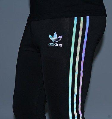 Adidas Xeno Striped Black Multicolor Leggings M Rare