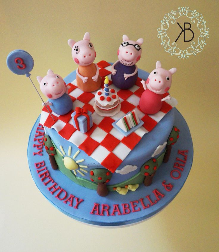 My second Peppa Pig creation! An all edible gooey chocolate cake
