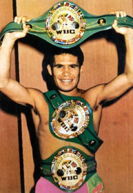 Julio Cesar Chavez. A Mexican icon, considered to be the greatest Mexican boxer ever