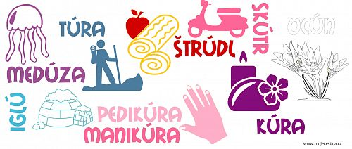 Slova, ve kterých píšeme uprostřed a na konci ú s čárkou (rychlopřehled) - Moje čeština - Čeština na internetu zdarma