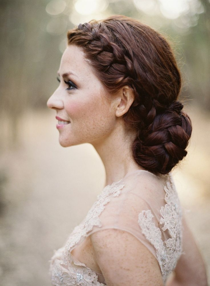 Braided bun #hairstyles View entire slideshow: 15 Best Bridal Buns on http://www.stylemepretty.com/collection/539/ Photography: Jose Villa Photography - josevillaphoto.com