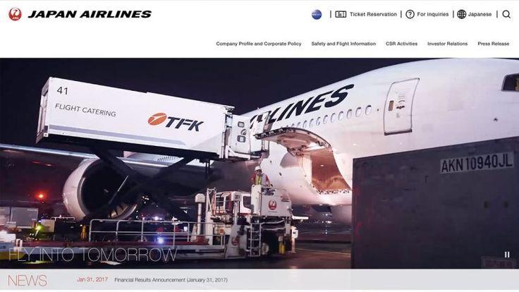 #DOTD JAPAN AIRLINES CO. LTD. CORPORATE WEBSITE by FOURDIGIT DESIGN Inc. #Japan #Website
