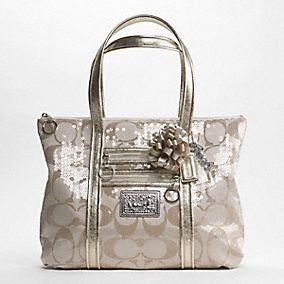 COACH POPPY GRAFFITI APPLIQUE GLAM TOTE/COACH POPPY SIGNATURE SEQUIN GLAM TOTE & COACH POPPY METALLIC LEATHER GLAM TOTE « AllureIsBeautiful
