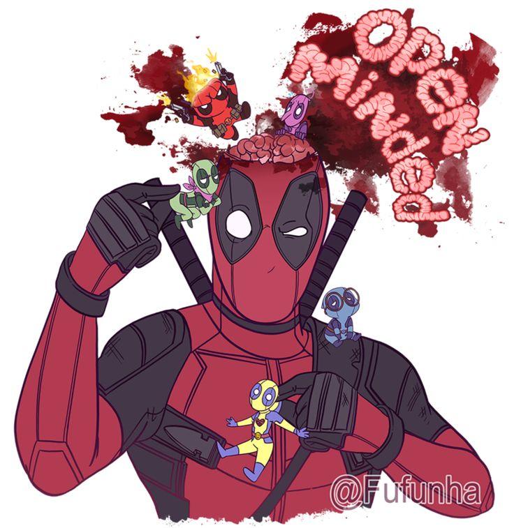 #Deadpool #Fan #Art. (Open Minded) By: Fufunha. ÅWESOMENESS!!!™ ÅÅÅ+