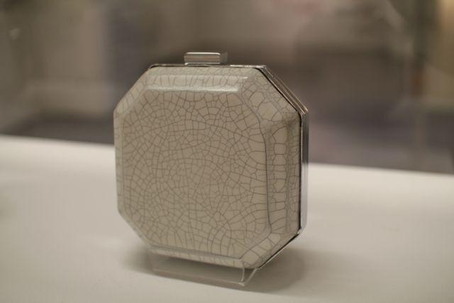 wei wang octagonal ceramics evening bag
