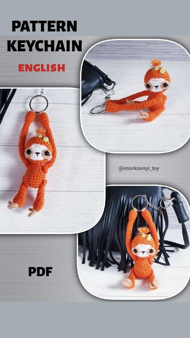 Little Monkey Amigurumi Monkey Crochet Keychain Charm Kawaii ... | 1080x607