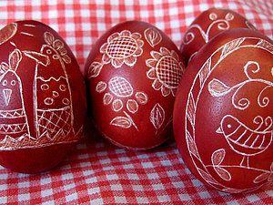Украшение пасхальных яиц в технике драпанка.   Ярмарка Мастеров - ручная работа, handmade