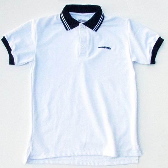 Polera Pique Color Blanco Detalles Bordados Tallas : S - M - L