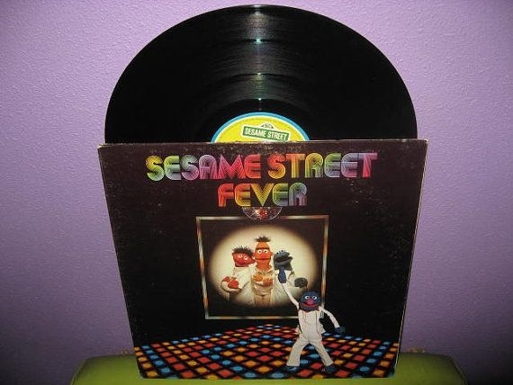 """Sesame Street Disco   17 Weird Vintage Kids' Records You Wish You Could Hear Now... I totally still own this. """"Me lost me cookie at the disco... woo wooo."""""""
