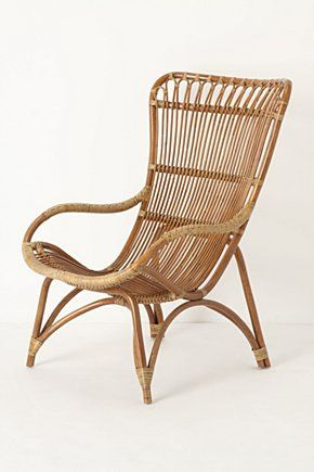 Banda Armchair from Anthropologie (Kind of like a hanging chair?) #chair #rattan #anthropologie