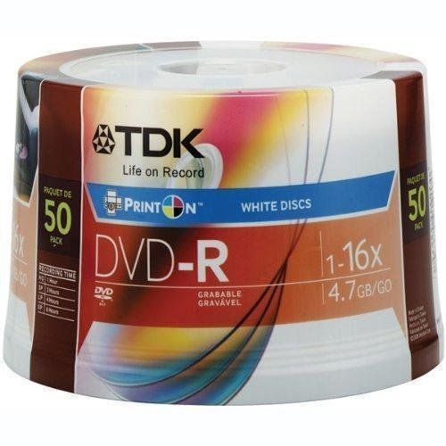 New - TDK 16x DVD-R Media - BV0008 by Imation. $34.97. General Information Manufacturer/Supplier: Imation Corp Manufacturer Part Number: 48674 Manufacturer Website Address: Brand Name: TDK Life on Record Product Name: 16x DVD-R Media Marketing Information: TDK 4.7GB DVD+R media offers the widest compatibility with most computer drives and home DVD players. Ideal for general purpose recording, a single TDK DVD+R has ample capacity for thousands of digital photos, up to si...