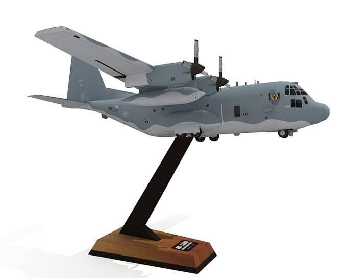 AC-130U Spooky Gunship Paper Model