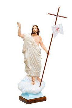 Gesù risorto cm. 65 altezza cm. 65 in resina vuota dipinto con colori acrilici disponibile anche con occhi di vetro  http://www.ovunqueproteggimi.com/collezione-statue/ges%C3%B9/risorto/