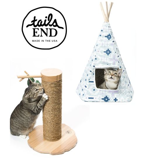 The amazing and original Cat Teepee! Made in New York with natural materials and of the best quality.  Christmas Gift / Holiday Gift / Cat Bed / Teepee / Dog Bed