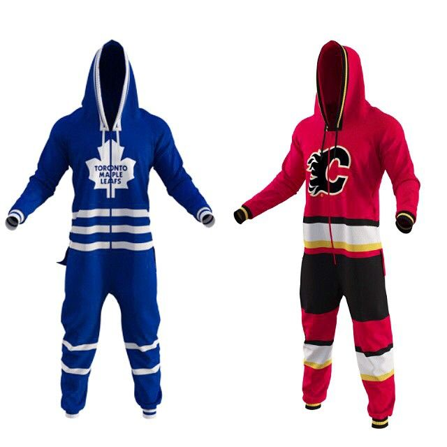 Our latest product is this year's must-have gift for the hockey fan in your life! NHL uniform onesies. Yes, they're amazing. They make watching the game 100x more fun. You might want to grab yours before they sell out again like last year! #iloveorangefish #hockeyfandreamcometrue