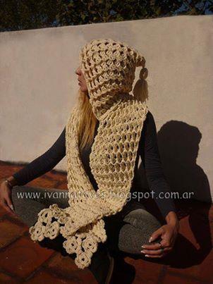 punto tridimensional http://www.youtube.com/watch?v=f2yStuS4rHQ y aca lo pueden ver y hacer: Crochet Stuff, Gorro Bufanda, Crochet3Djpg 10941459, Crochet 3D Jpg 1094 1459, Scarves Hoods, Scarfs, Moda Crochet, Crochet Cowls