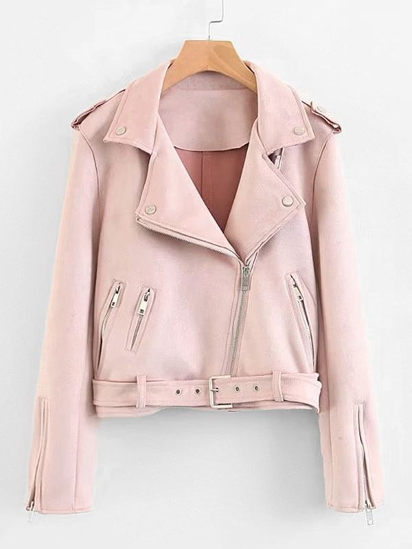 Shop Zipper Detail Suede Jacket With Belt online. SheIn offers Zipper Detail Suede Jacket With Belt & more to fit your fashionable needs.
