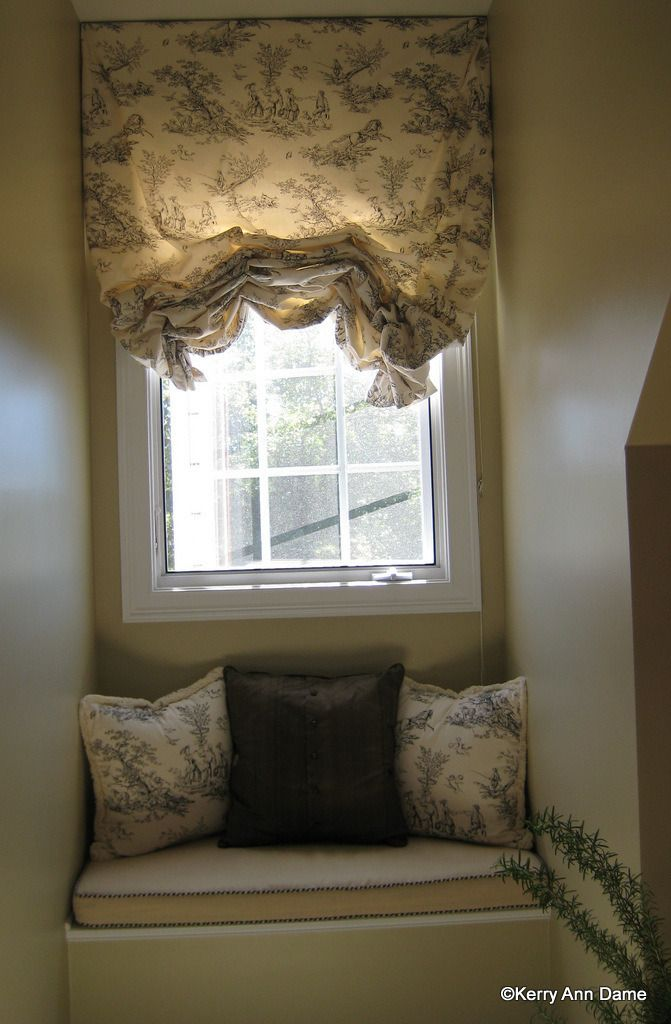 Romantic georgian pull up blind in toile romance makes a for French country windows